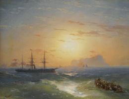 Ivan Aivazovsky. Shipping off Ischia
