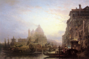 Alexey Petrovich Bogolyubov. Venice at night