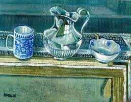 Франсиско де ла Помпа Рамос. Натюрморт с синей чашкой