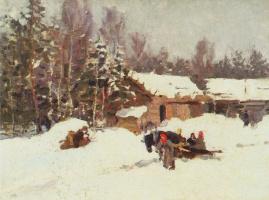 Konstantin Alekseevich Korovin. Winter landscape