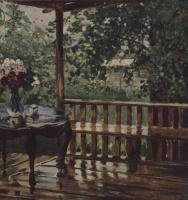Александр Михайлович Герасимов. После дождя. Мокрая терраса