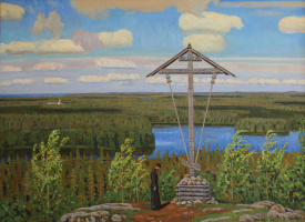 Евгений Александрович Казанцев. At the bow of the cross. On Solovki.