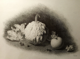 """Pumpkin and Dry Leaves"""