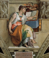 Микеланджело Буонарроти. Сикстинская капелла. Эритрейская сивилла