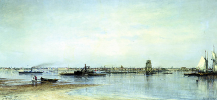 Alexey Petrovich Bogolyubov. The mouth of the Neva