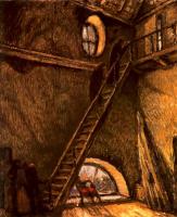 """Мстислав Валерьянович Добужинский. В Скворечниках. Эпилог. Картина по мотивам спектакля """"Николай Ставрогин"""""""