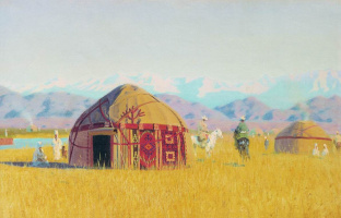 Vasily Vasilyevich Vereshchagin. Kyrgyz tent on the Chu river