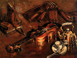 Клод Бонно. Скрипка и книги