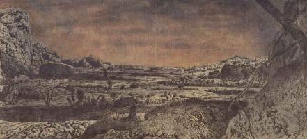 Херкюлес Питерс Сегерс. Горная долина, разделенная на пашни