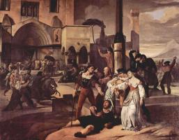"""Франческо Айец. Цикл картин """"Сицилианские вечера"""". Сцена 1"""