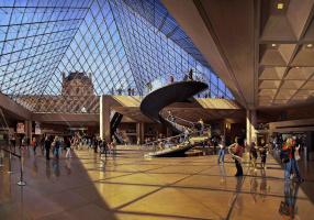 Robert Nuffson. The Louvre. Pyramid