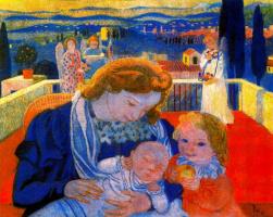 Морис Дени. Богоматерь с младенцем и маленький святой Иоанн
