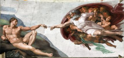 Микеланджело Буонарроти. Сотворение Адама