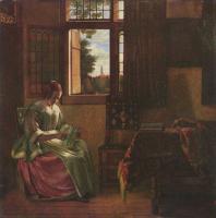 Питер де Хох. Дама, читающая письмо