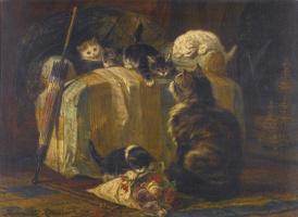 Генриетта Роннер-Книп. Котята играют