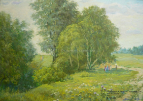 Anatoly Aleksandrovich Obvintsev. Noon. In the spring