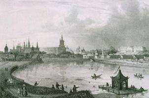 Шарль Клодт Жакотте. Панорамный вид города Казани с южной стороны