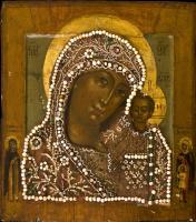 Unknown artist. The Kazan icon of the Mother of God of XVII - XVIII century.