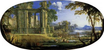 Пьер Патель Старший. Фантастический пейзаж с руинами