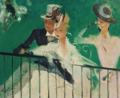 Jean Domerg - Gabriel 1889 - 1962 France. At the races.