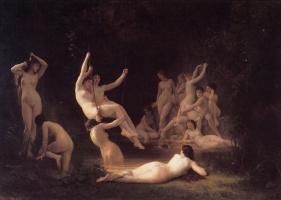 William-Adolphe Bouguereau. Nymphs