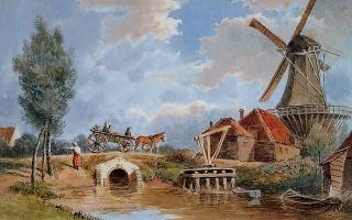 Франс Лебрет. Старая мельница