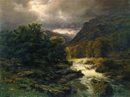 Михаил Спиридонович Эрасси. Рейхенбахский водопад у Мейрингена в Швейцарии