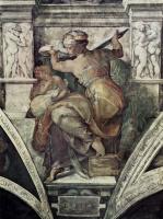 Микеланджело Буонарроти. Ливийская сивилла. Фрески Сикстинской капеллы