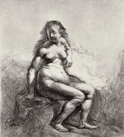 Рембрандт Ван Рейн. Сидящая обнаженная