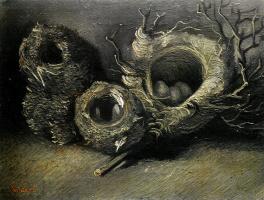 Vincent van Gogh. Still life with three birds ' nests