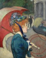 Луи Анкетен. Женщина с зонтиком. 1891