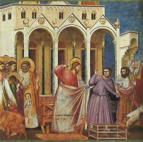 Джотто ди Бондоне. Изгнание менял из Храма