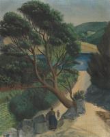Василий Иванович Шухаев. Пейзаж в Кассисе. 1928