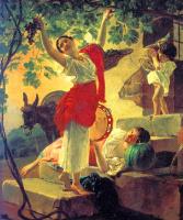 Карл Павлович Брюллов. Девушка, собирающая виноград в окрестностях Неаполя
