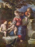 Рафаэль Санти. Святое семейство под дубом с Иоанном Крестителем