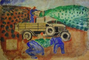 Федор Васильевич Антонов. Чаква. На чайной плантации. (Сбор чая в Абхазии)