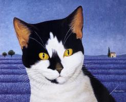 Лоуэлл Эрреро. Черно-белый кот