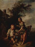 Иоганн Конрад Зеекац. Девушка и нищий
