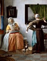 Габриель Метсю. Женщина читает письмо