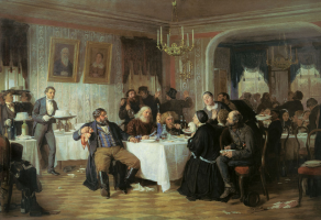 Sergeevich Firs Zhuravlev. Merchants commemoration. . State Tretyakov Gallery, Moscow
