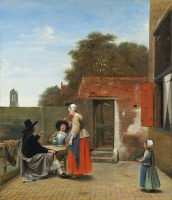 Питер де Хох. Голландский двор