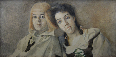 Hansel and Gretel (Portrait of N. And. Zabela and T. S. Ljubatovich)