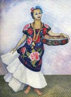 Диего Мария Ривера. Женщина в ярком платье