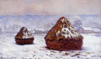 Claude Monet. Haystacks. The effect of snow