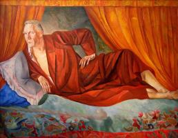 Борис Дмитриевич Григорьев. Портрет Шаляпина. 1918