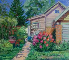 Екатерина Антропова. Цветы у дома