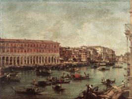 Франческо Гварди. Гранд-канал и рыбный рынок