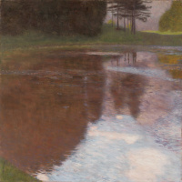 Густав Климт. Утро на пруду в парке дворца Каммер