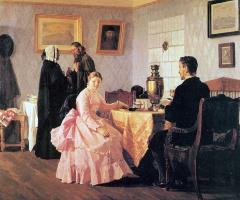 Nikolai Vasilyevich Nevrev. The bride