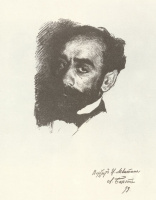 Lev Samoilovich Bakst (Leon Bakst). Portrait of the artist Isaac Levitan